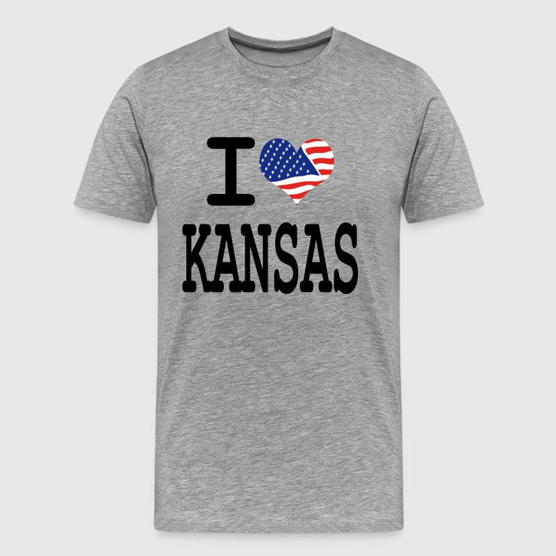 i love kansas T-Shirts - Men's Premium T-Shirt