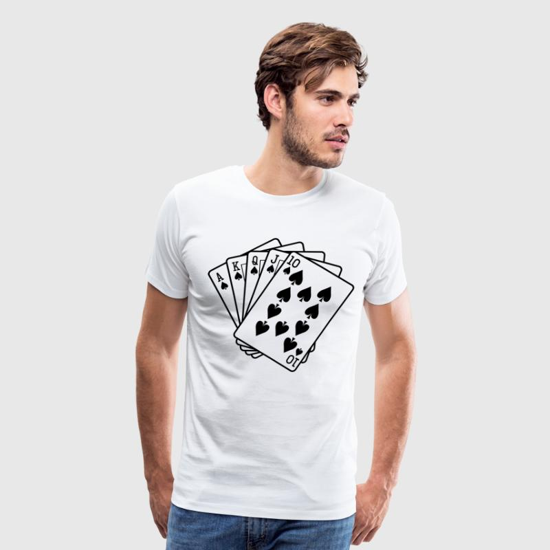 Royal Flush HD VECTOR T-Shirts - Men's Premium T-Shirt