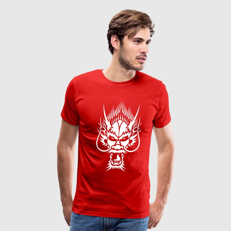 Chinese Dragon Head 1 T-Shirts - Men's Premium T-Shirt