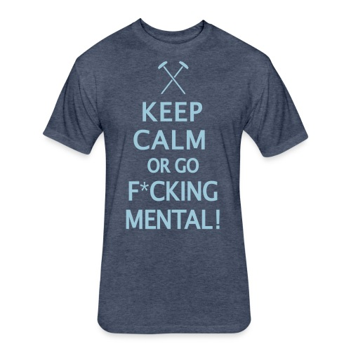 Keep Calm - Hammers - Fitted Cotton/Poly T-Shirt by Next Level