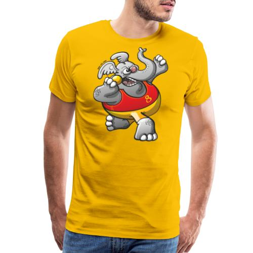 Olympic Shot Put Elephant - Men's Premium T-Shirt