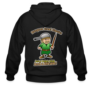 Pointy Stick and a Dream! - Men's Zip Hoodie