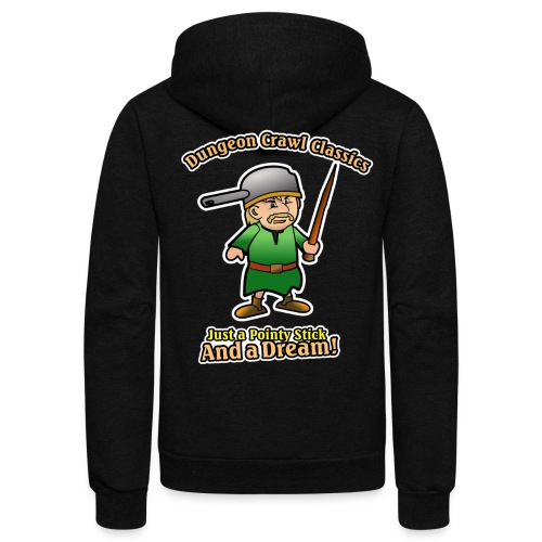 Pointy Stick and a Dream! - Unisex Fleece Zip Hoodie