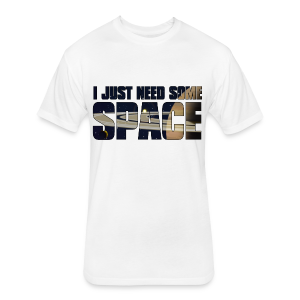 Space shirt - Fitted Cotton/Poly T-Shirt by Next Level