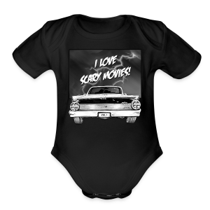 I love scary movies t-shirt - Short Sleeve Baby Bodysuit