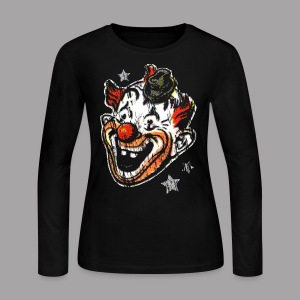 Retro Clown Mask Women's T Shirt - Women's Long Sleeve Jersey T-Shirt