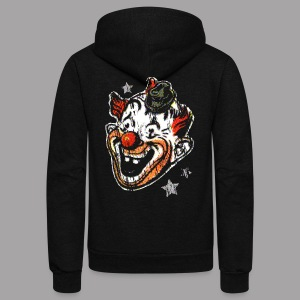 Retro Clown Mask Women's T Shirt - Unisex Fleece Zip Hoodie by American Apparel