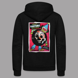 Clown Costume Women's Halloween T Shirt - Unisex Fleece Zip Hoodie by American Apparel