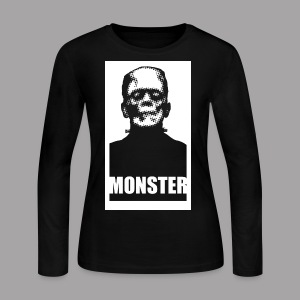 The Monster Halloween Horror Women's T Shirt - Women's Long Sleeve Jersey T-Shirt