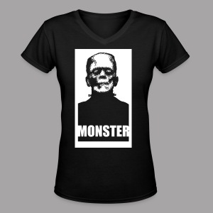 The Monster Halloween Horror Women's T Shirt - Women's V-Neck T-Shirt