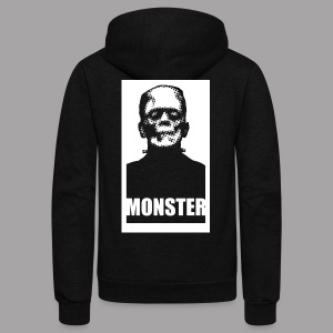 The Monster Halloween Horror Women's T Shirt - Unisex Fleece Zip Hoodie by American Apparel
