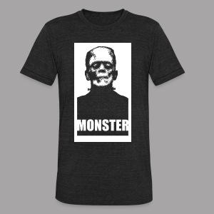 The Monster Halloween Horror Women's T Shirt - Unisex Tri-Blend T-Shirt by American Apparel