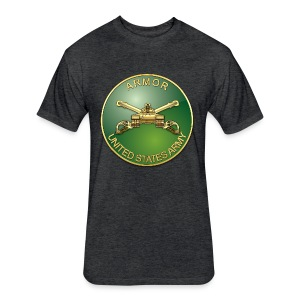 Armor Branch Plaque - Fitted Cotton/Poly T-Shirt by Next Level