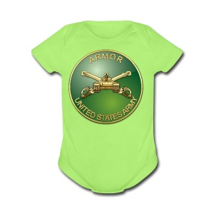 Armor Branch Plaque - Short Sleeve Baby Bodysuit