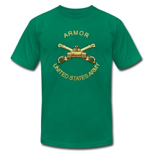 Armor Branch Insignia - Men's T-Shirt by American Apparel