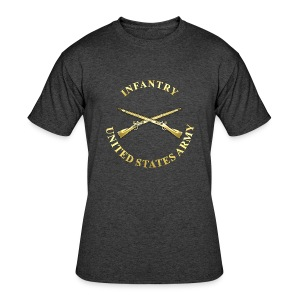 Infantry Branch Insignia - Men's 50/50 T-Shirt