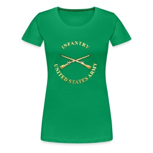 Infantry Branch Insignia - Women's Premium T-Shirt