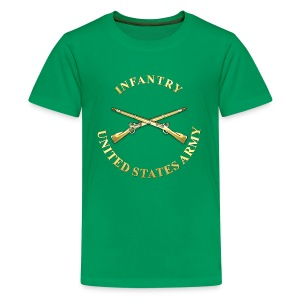 Infantry Branch Insignia - Kids' Premium T-Shirt