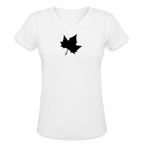 Plane leaf t-shirt - Women's V-Neck T-Shirt