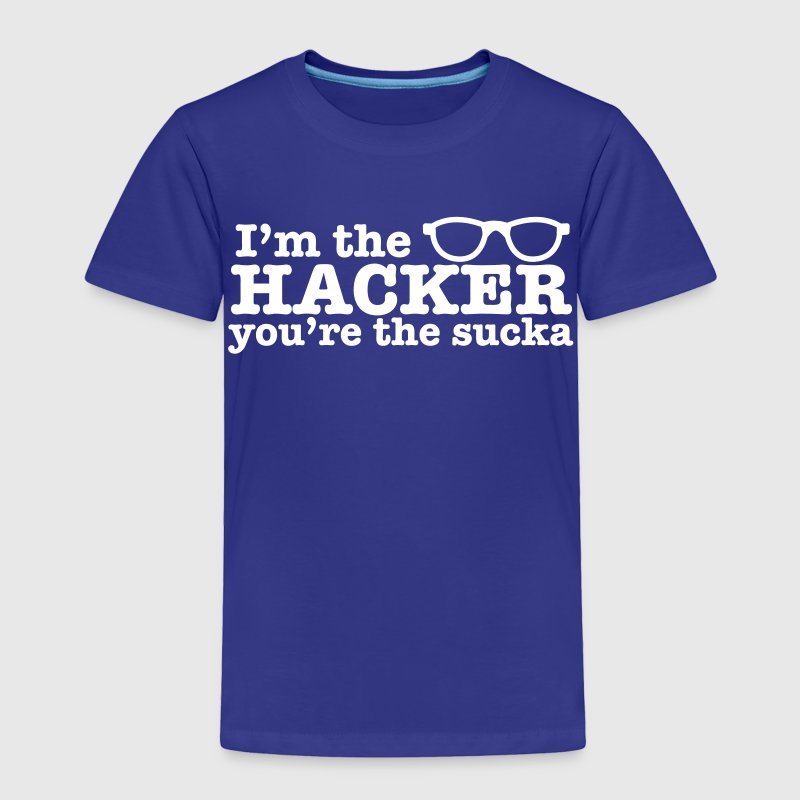 I'm the HACKER you're the SUCKA with cute nerdy glasses Baby & Toddler Shirts - Toddler Premium T-Shirt