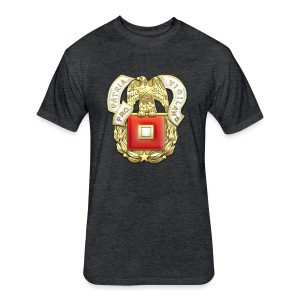 Signal Corps Regimental Insignia - Fitted Cotton/Poly T-Shirt by Next Level