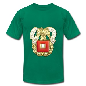 Signal Corps Regimental Insignia - Men's T-Shirt by American Apparel