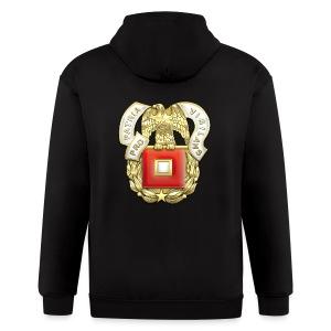 Signal Corps Regimental Insignia - Men's Zip Hoodie