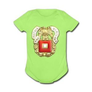 Signal Corps Regimental Insignia - Short Sleeve Baby Bodysuit