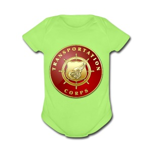 Transportation Corps Branch Plaque - Short Sleeve Baby Bodysuit