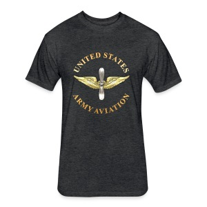 Aviation Branch Insignia - Fitted Cotton/Poly T-Shirt by Next Level