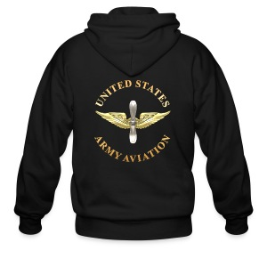 Aviation Branch Insignia - Men's Zip Hoodie