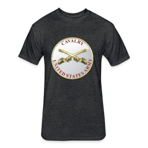 Cavalry Branch Plaque - Fitted Cotton/Poly T-Shirt by Next Level