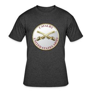 Cavalry Branch Plaque - Men's 50/50 T-Shirt
