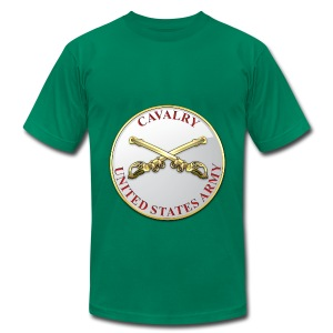 Cavalry Branch Plaque - Men's T-Shirt by American Apparel