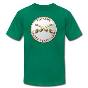 Cavalry Branch Plaque - Men's Fine Jersey T-Shirt