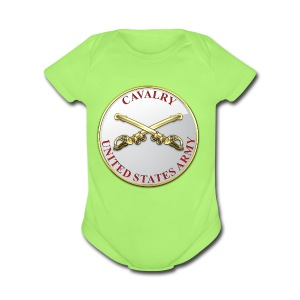 Cavalry Branch Plaque - Short Sleeve Baby Bodysuit