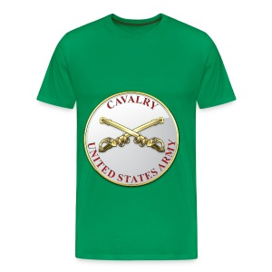 Cavalry Branch Plaque - Men's Premium T-Shirt