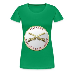 Cavalry Branch Plaque - Women's Premium T-Shirt