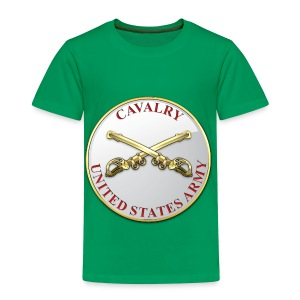Cavalry Branch Plaque - Toddler Premium T-Shirt