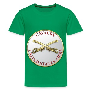 Cavalry Branch Plaque - Kids' Premium T-Shirt