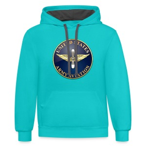 Aviation Branch Plaque - Contrast Hoodie