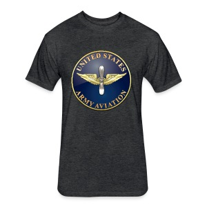 Aviation Branch Plaque - Fitted Cotton/Poly T-Shirt by Next Level