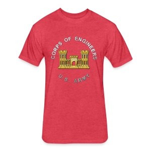 USACE Branch Insignia - Fitted Cotton/Poly T-Shirt by Next Level