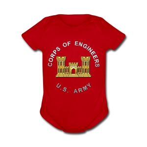 USACE Branch Insignia - Short Sleeve Baby Bodysuit