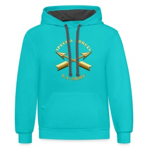 Army SF Branch Insignia - Contrast Hoodie