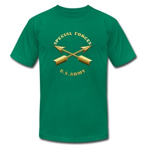 Army SF Branch Insignia - Men's T-Shirt by American Apparel