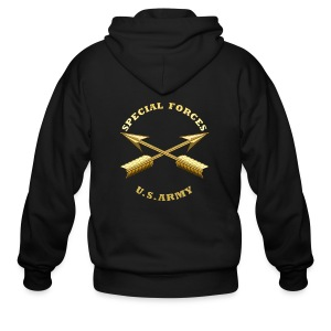 Army SF Branch Insignia - Men's Zip Hoodie