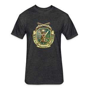 MP Regimental Insignia - Fitted Cotton/Poly T-Shirt by Next Level