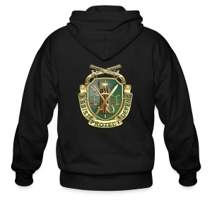 MP Regimental Insignia - Men's Zip Hoodie