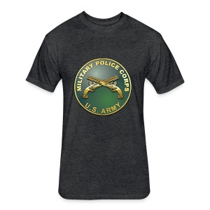MP Branch Plaque - Fitted Cotton/Poly T-Shirt by Next Level